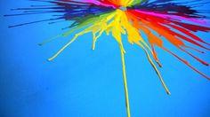 Wax Crayon Art Super Massive Wax Splat: 90 x Wax Crayon Art, Wax Crayons, Stuff To Do, Rainbow, Canvas, Blog, Painting, Tela, Rainbows