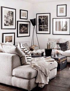 Living Inspiration Zuhause Deko Landhaus gemütlich Ecke Einrichtung Sofa Kissen Tisch Idee Zimmer Pinterest