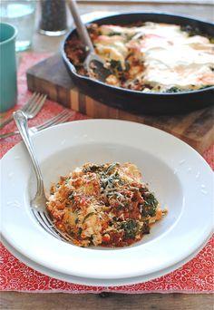 Ravioli Skillet Lasagna / Bev Cooks