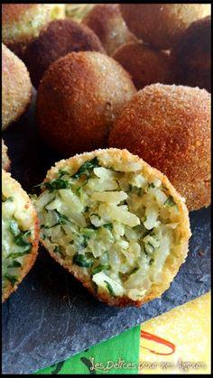 Arancini- les delices pour mes amours Saveur, Baked Potato, Potatoes, Baking, Ethnic Recipes, Food, Recipe, Battle, Kitchens