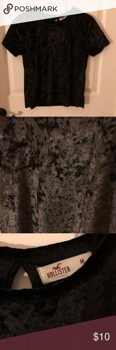 Hollister Velvet Top Worn ONCE! Like new!! Hollister Tops