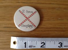 Vintage Retro I LOVE HUMPHREY Badge 1980s Advertising Unigate Milk