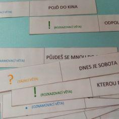 Druhy vět - domino Boarding Pass, Montessori