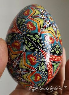 Over The Rainbow Saddlebag Ukrainian Easter Egg Pysanky By So Jeo