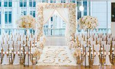 White & Blush Inspirational Wedding Shoot at Urban Rooftop Garden