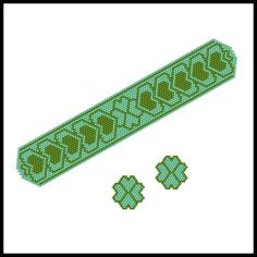 Hearty St. Patrick's Bracelet & Earrings | Bead-Patterns