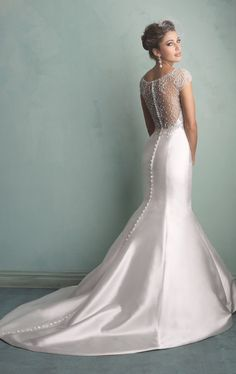 Allure 9158 by Allure Bridals.. Normally I don't like satin but this is beautiful
