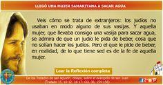 MISIONEROS DE LA PALABRA DIVINA: REFLEXIÓN -  LLEGÓ UNA MUJER SAMARITANA A SACAR AG...