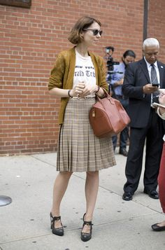This seems like the perfect combination of Alexa Chung-esque style with a touch of Parisian Librarian.
