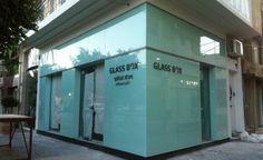 Glass Box Optical Store In Ierapetra - Crete Crete Greece, Glass Boxes, Garage Doors, Retail, Store, Outdoor Decor, Home Decor, Decoration Home, Room Decor