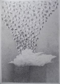 "Saatchi Online Artist: Constantinescu George; Pencil, 2011, Drawing ""How it rains"""
