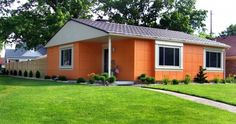 Ever heard of Lustron Homes? I hadn't until this morning. Built of pre-fabricated enameled steel and only built from 1948-1950. About 3,000 were built and only around 2,000 are still standing. Cute!
