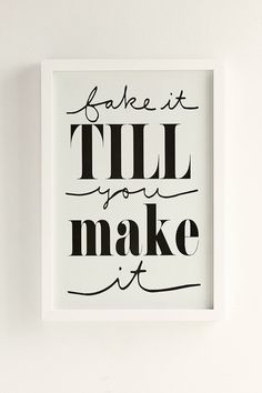 Plum & Bow Fake It Till You Make It Framed Wall Art - Urban Outfitters