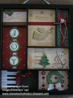 Stamptastic Designs: Christmas Shadow Box
