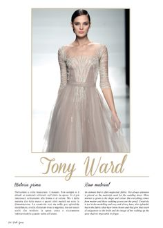 Focus on Tony Ward in Haute Couture Paris-Rome chapter. #TonyWard #catwalks #style #fashion #womans #fashion #bride #wedding