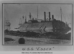 Gunboat Essex during Civil War at Baton Rouge Louisiana late 1862