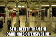 Still Better Than The Cardinals Offensive Line | NFL Memes, Sports Memes, Funny Memes, Football Memes, NFL Humor, Funny Sports