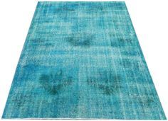5.9x8.2 Ft 176x250 cm Turquoise Blue Color Vintage by WeMakeRugs, $599.00