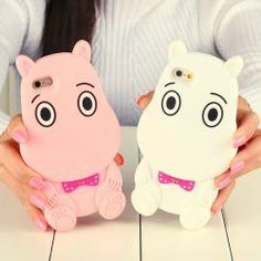 Silicone Case 3D Cute Hippopotamus Soft TPU Cover For Girls Apple iPhone 5s / iPhone SE, 6, 6 Plus, 6s, 6s Plus, 7, 7 Plus