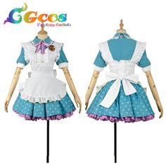 ==> [Free Shipping] Buy Best CGCOS Free Shipping Cosplay Costume Love Live Sunshine Kunikida Hanamaru Valentine Day Maid Uniform Halloween Christmas Online with LOWEST Price | 32807927669