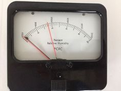 Vintage Humidity Panel Gauge Meter for Steampunk, Mancave or other projects #PCRC