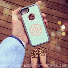 Monogrammed Otterbox Defender and Leopard Flats