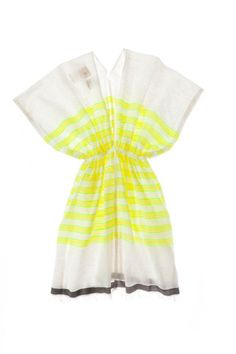 Mare Tunic from Lemlem Lemlem, Ethiopia, Hand Weaving, Stripes, Tunic, My Style, Yellow, Sweet, Collection