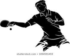 Outdoor Table Tennis Table, Table Tennis Player, Sports Logos, Pencil Art Drawings, I Am Game, Portfolio, Airbrush, Ikon, Illustration Art