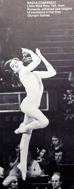 "Nadia Comaneci Romania 1970s Gymnastics ""Little Miss Ponytail"" #1970s #comaneci #gymnastics #little #nadia #ponytail #romania"