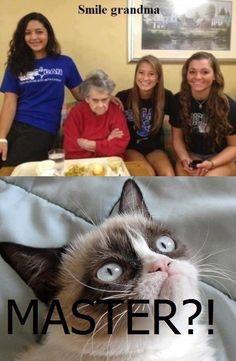 Smile grandma!