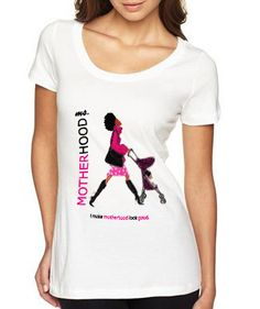 """""""I make motherhood look good."""" Ha! What momma wouldn't want to rock one of these tees?! Click link to shop!"""