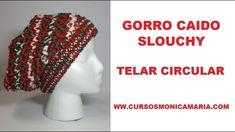 GORRO CAIDO SLOUCHY TELAR CIRCULAR //Tutorial paso a paso