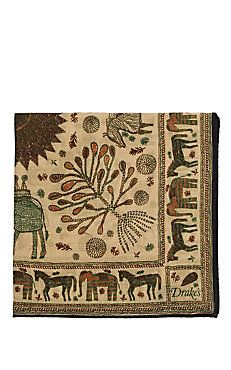 Animal-Print Wool-Silk Pocket Square