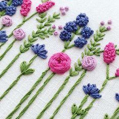Цветы, цветы #вышивка #настроение