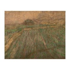 Wheat Field in Rain by Vincent Van Gogh Queork Photo Prints