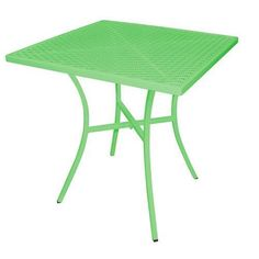 Cafe Table, 700mm Square Green Steel, Outdoor  Restaurant & Cafe Furniture