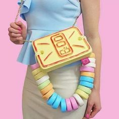 Food and Candy Purses by Rommy De Bommy on Etsy More like this Unique Handbags, Unique Purses, Unique Bags, Cute Purses, Purses And Handbags, Fushia Pink, Pastel Pink, Candy Watch, Kawaii Bags