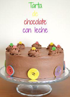 tarta de chocolate con leche | tarta infantil | tarta para niños | ganache de chocolate con leche | Milk chocolate cake