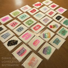 Loveleigh Stampin' Watercolor Monogram Note Cards Class with Sophisticated Serifs