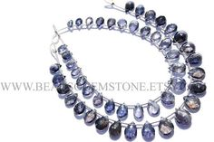 Pear Faceted Beads In Iolite Beads Quality A 5.5x7.5 to #iolite #iolitebeads #iolitebead #iolitepear #pearbeads #beadswholesaler #semipreciousstone #gemstonebeads #beadsogemstone #beadwork #beadstore #bead