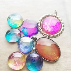 Space Inspired Glass Pendants