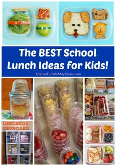 Kids Meals Better Kids School Lunch Ideas to for the Whole Year Back to School Organization - 100 amazing school lunch ideas for kids. Plus hacks and tips to make packing school lunches a breeze. School lunch ideas for all dietary needs. Home Lunch Ideas, Back To School Lunch Ideas, School Lunch Box, Cold Lunch Ideas For Kids, Lunch Boxes, Kids Lunchbox Ideas, Packing School Lunches, Easy School Lunches, Toddler Lunches