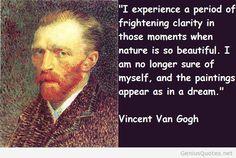 Van Gogh on nature...