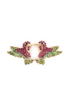 Hummingbird Earrings in Brilliant Crystal
