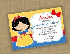 DIY Printable Snow White Princess Invitation by QTpartyDesigns, $10.00