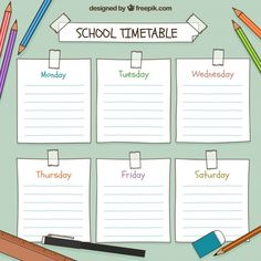 Kids Planner, School Planner, Study Planner, Planner Pages, Weekly Planner Template, Printable Planner, School Timetable, School Schedule, Daily Schedule Kids