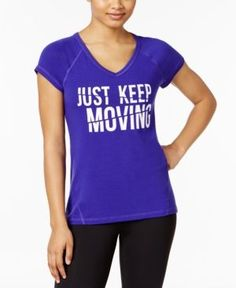 Ideology Keep Moving Graphic T-Shirt, Only at Macy's - Purple XXL