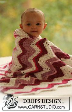 """Ravelry: b16-24 Crochet blanket with zigzag pattern in """"Alpaca"""" pattern by DROPS design"""