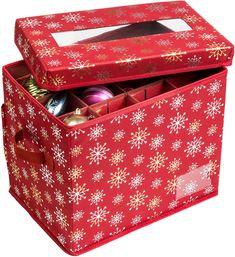HONEY CAN DO Honey-Can-Do 36-Piece Holiday Ornament Storage Box
