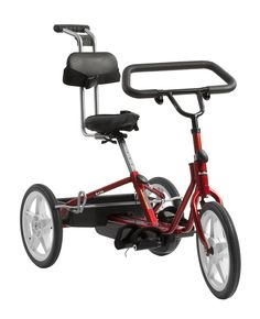 Rifton Adaptive Tricycles are adapted sports bicycles that enable children and adolescents with physical disabilities to improve leg strength and reciprocal leg movement in a way that is fun and recreational. http://www.rifton.com/products/special-needs-tricycles/adaptive-tricycles